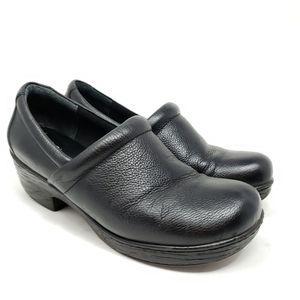 Born b.o.c. Nadiyya Black Leather Slip On Clog